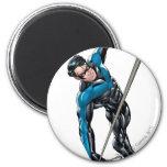 Nightwing con la cuerda iman de nevera