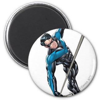 Nightwing con la cuerda imán redondo 5 cm