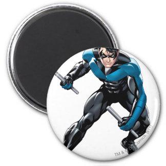 Nightwing con las armas imán redondo 5 cm