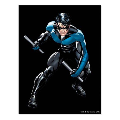 Nightwing con las armas postal