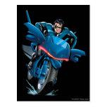 Nightwing monta la bici tarjetas postales