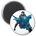 Nightwing on bike 2 inch round magnet