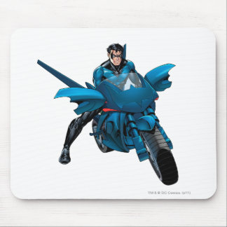 Nightwing on bike mouse pad