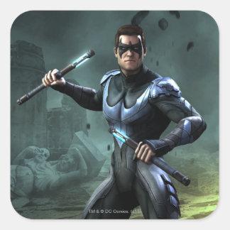 Nightwing Pegatina Cuadrada
