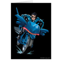 Nightwing rides bike card