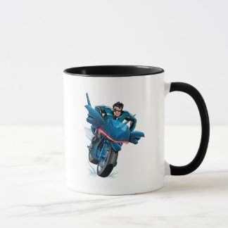 Nightwing rides bike mug