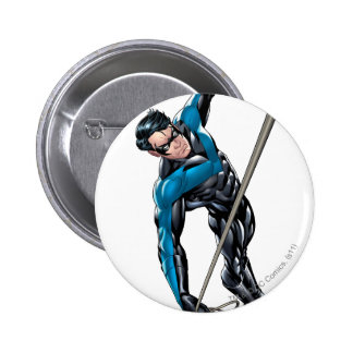 Nightwing with rope pinback button