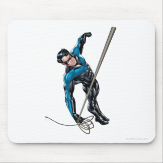 Nightwing with rope mouse pad