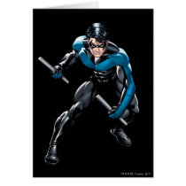 Nightwing with Weapons Card