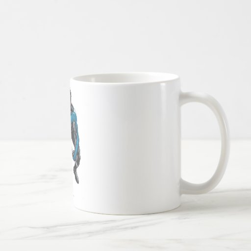 Nightwing with Weapons Classic White Coffee Mug