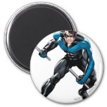 Nightwing with Weapons Fridge Magnet