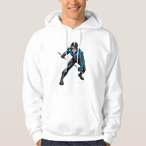 Nightwing with Weapons Hoodie