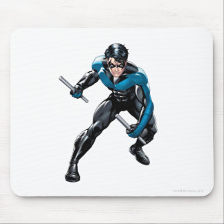 Nightwing with Weapons Mouse Pad