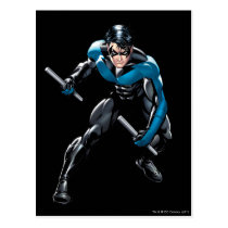 Nightwing with Weapons Postcard