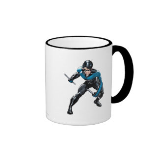 Nightwing with Weapons Ringer Mug