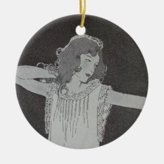 NIghty Night Ceramic Ornament