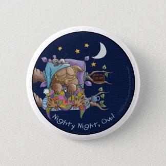 Nighty Night, Owl Pinback Button
