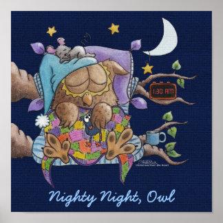 Nighty Night, Owl Poster