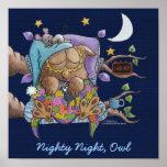 Nighty Night, Owl Posters