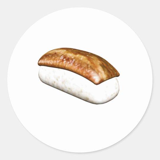Nigiri Anago Sushi Classic Round Sticker