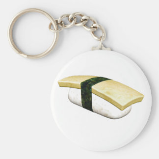 Nigiri Tamago Sushi Basic Round Button Keychain