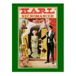 Nigromante mágico 1910 de Karl del poster del vint Tarjeta Postal