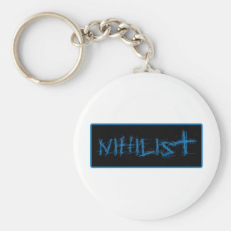 Nihilist Basic Round Button Keychain