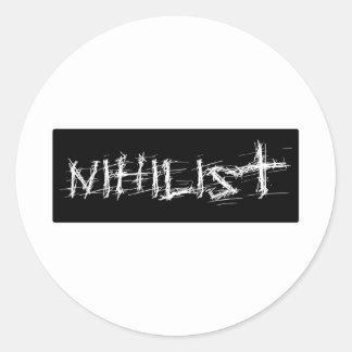 Nihilist Classic Round Sticker
