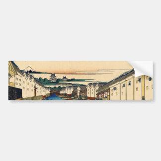 Nihonbashi bridge in Edo Bumper Sticker