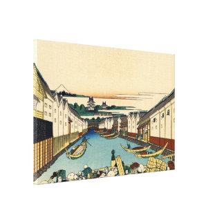 Nihonbashi bridge in Edo Canvas Print