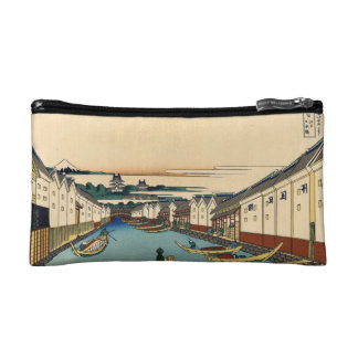 Nihonbashi bridge in Edo Makeup Bag