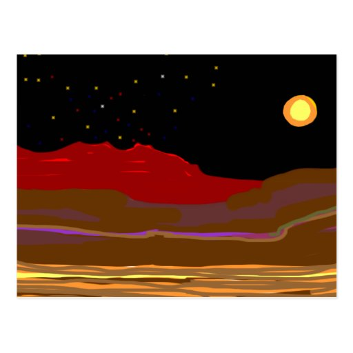 Niight time in Outback Country Postcard