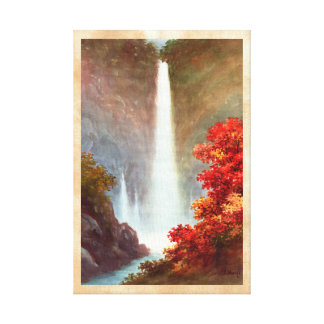 Niimi Kegon Waterfall Nikko japanese waterscape Canvas Print