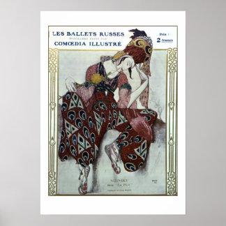 Nijinsky dans La Peri — Ballets Russes Poster