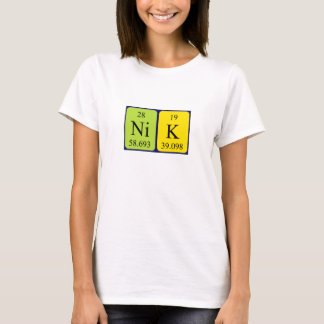 Nik periodic table name shirt