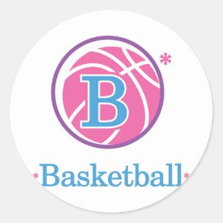 Nika Basketball Classic Round Sticker