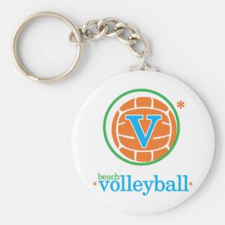 Nika Beach Volleyball Basic Round Button Keychain