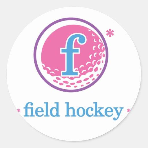 Nika Field Hockey Classic Round Sticker