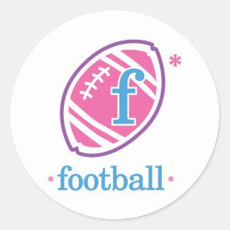 Nika Football Classic Round Sticker