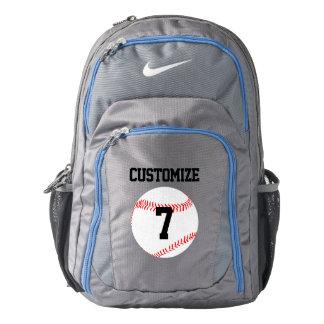 Nike Baseball Custom Jersey Number Backpack