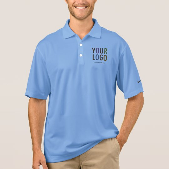 d97ff242 Nike Dri-FIT Men Polo Shirt Custom Logo Employee | Zazzle.com