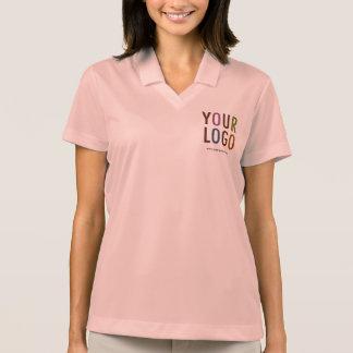 Nike Dri-FIT Women Pink Polo Shirt Custom Logo