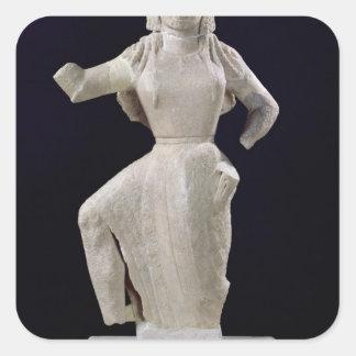 Nike, from Delos, c.550 BC Square Sticker