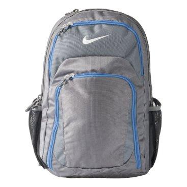 Beach Themed Nike Performance Backpack, Dark Grey/Military Blue Backpack