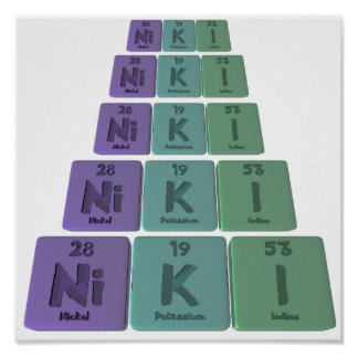 Niki  as Nickel Potassium Iodine Posters