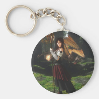 Niki Dragonflame Basic Round Button Keychain