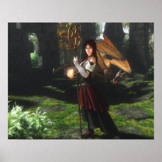 Niki Dragonflame Poster