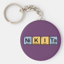 Basic Button Keychain with Nikita made of Elements design