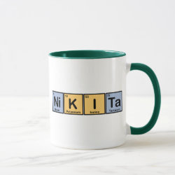 Mug with Nikita made of Elements design