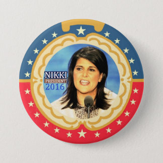 Nikki Haley for President 2016 Button